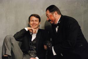 Jesse Merlin as Buckingham, left, and Jon Mullich as Richard III.