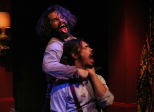 "Robert Homer Mollohan, left, as ""Dracula"" and Kenneth James as ""Quincey."""